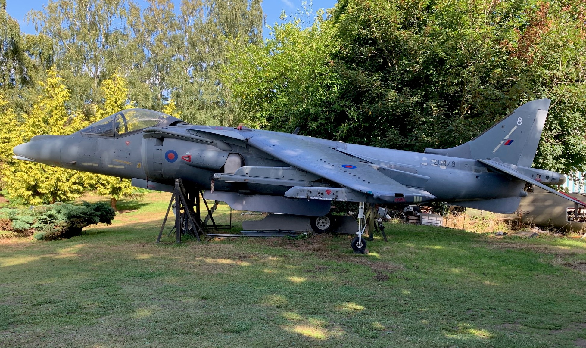 Harrier GR9A ZG478 Undergoing Restoration