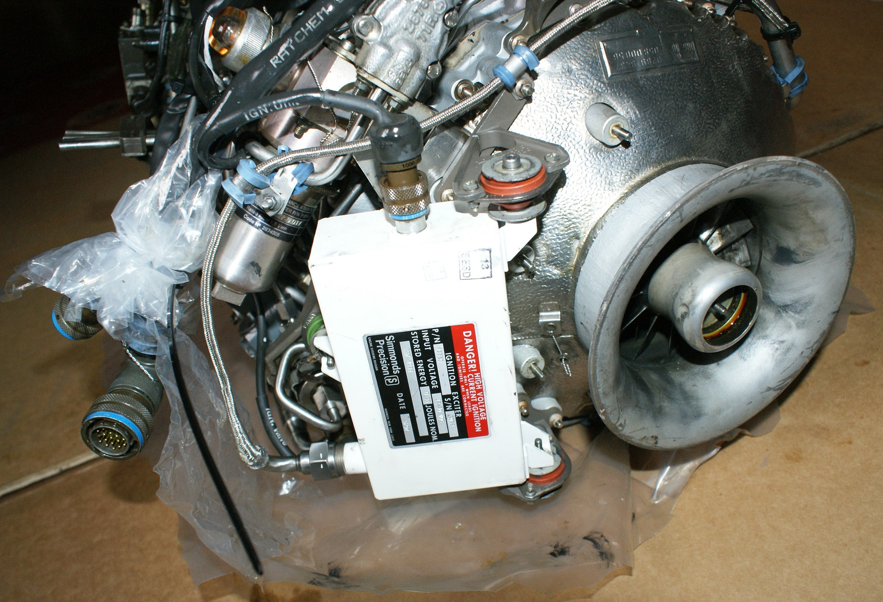 Close Up View Showing Intake & Ignition Unit